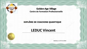 Coaching quantique